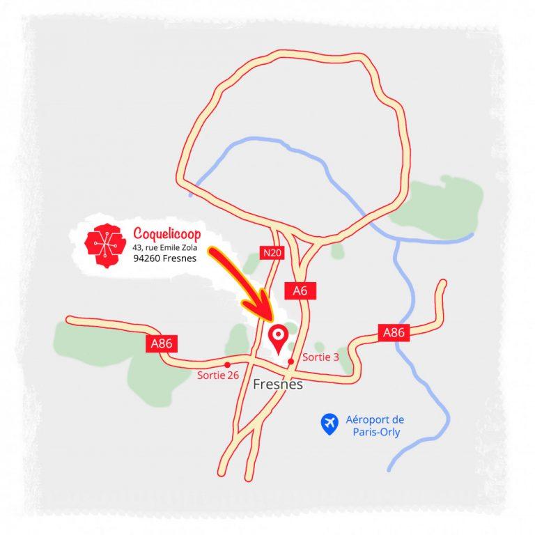 Plan localisation Coquelicoop